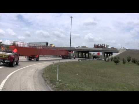 150ft Overhead crane girder being delivered to Miami from Cocoa