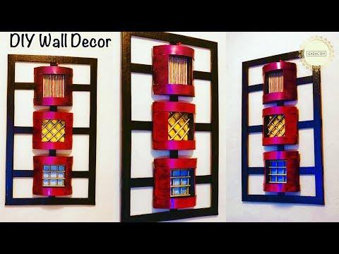 Wall Decoration Ideas| gadac diy| wall hanging craft ideas easy| craft ideas for home decor| Crafts