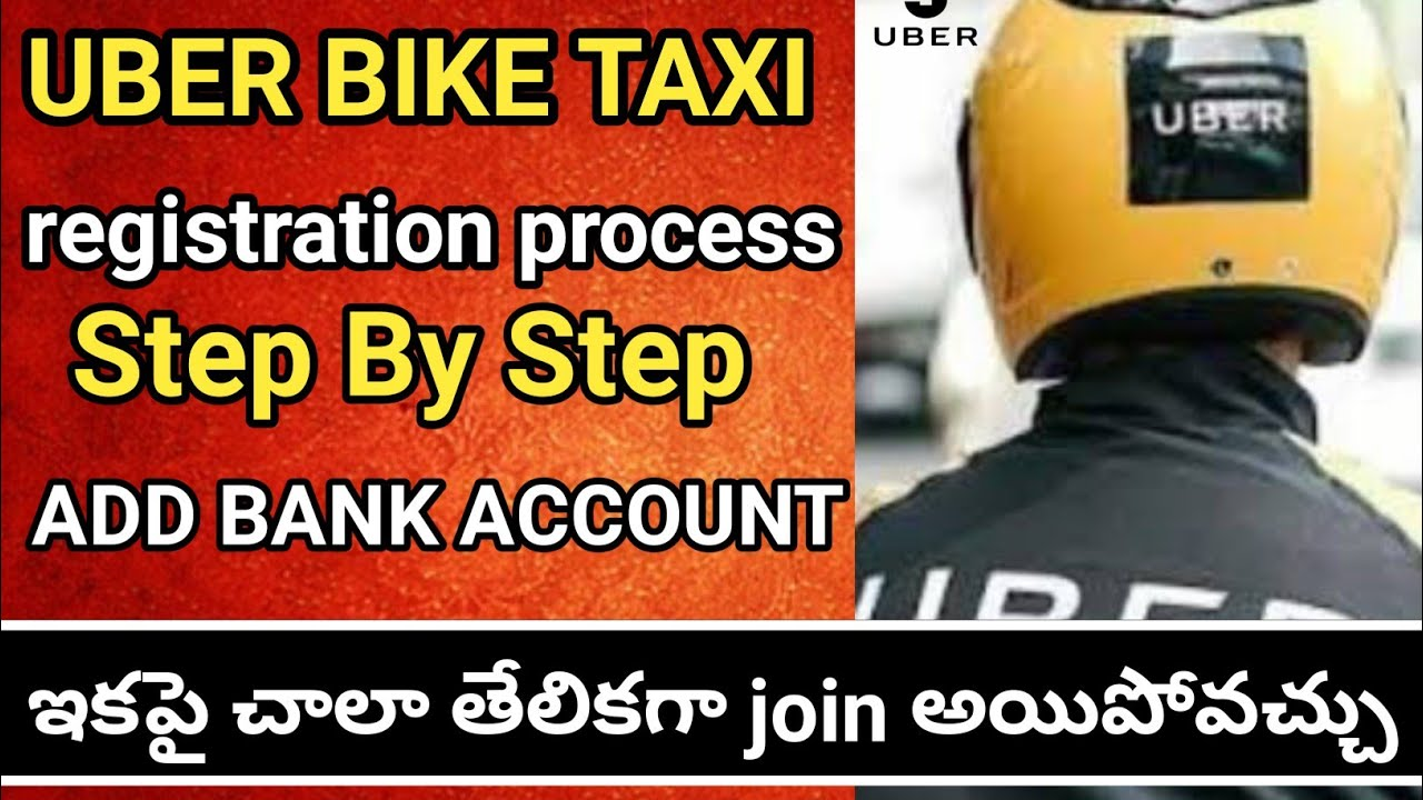 How To Join Uber Bike Taxi How To Register Bike In Uber Uber