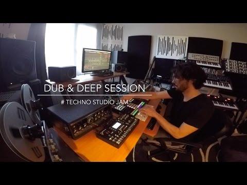 DUB & DEEP SESSION # Techno studio Jam (SpaceEcho Prophet6 Tempest Octatrack Perfourmer Strymon..)