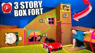 worlds-biggest-3-story-box-fort-secret-rooms-gaming-room-24-hour-challenge