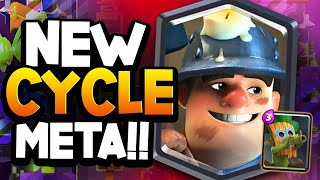 the FASTEST CYCLE DECK to EVER hit Top Ladder! 2.4 Miner Cycle!