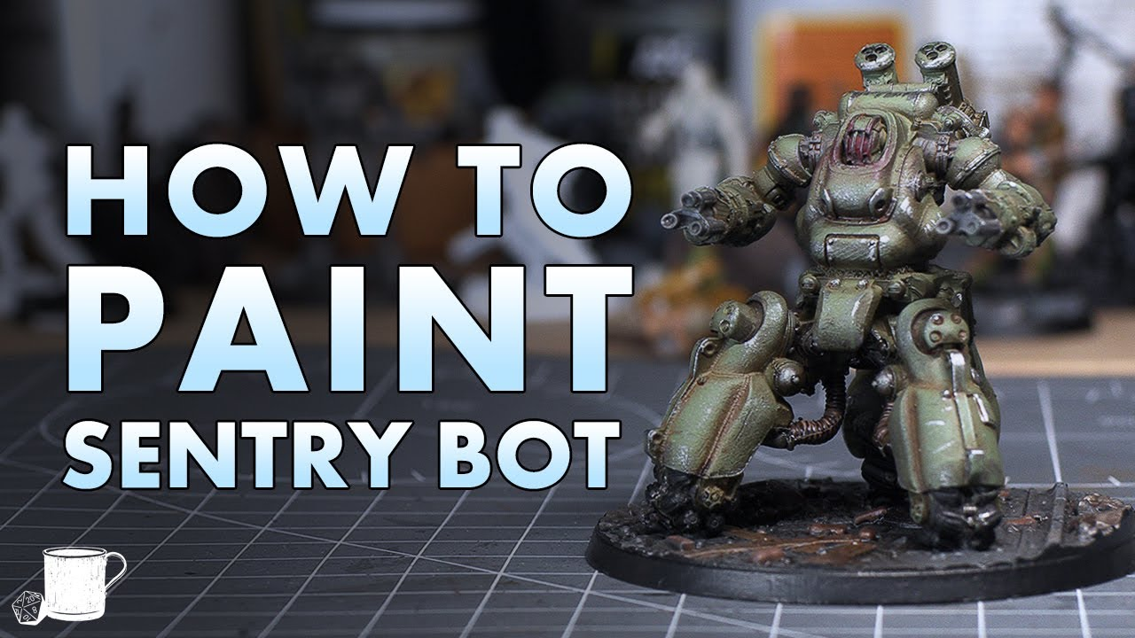 How to Paint The Sentry Bot from Fallout Wasteland Warfare
