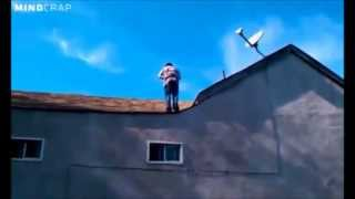 Crackhead Backflip Off 40-foot Roof