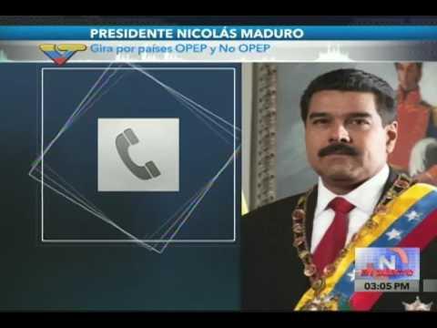 Contacto telefónico del Presidente Nicolás Maduro desde Irán, 22 octubre 2016