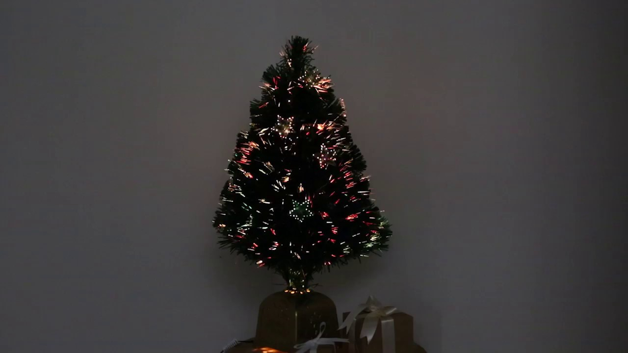2ft Fibre Optic Table Top Christmas Tree FL 1027 YouTube - 36 Fiber Optic Christmas Tree