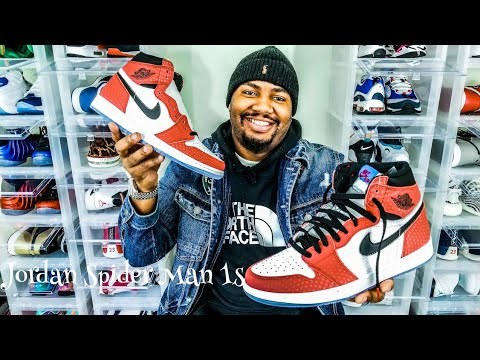 e51389676ecb73 Air Jordan 1 Spider Man Origin Story Review!! Miles Morales - YouTube