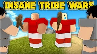 INSANE TRIBE WARS! (ROBLOX Booga Booga)