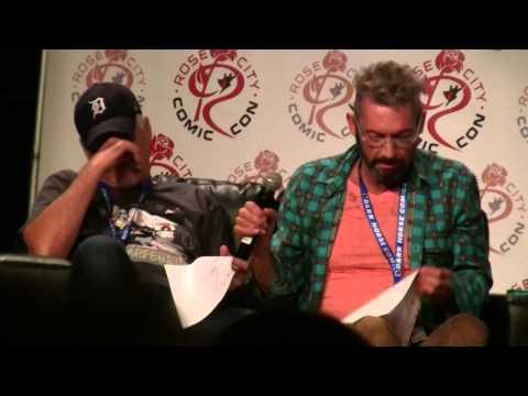 Classic Teenage Mutant Ninja Turtles voice actors at Rose City Comic Con 2014