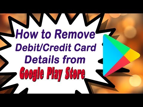 How To Delete Debit / Credit Card Details From Google Play Store | Telugu