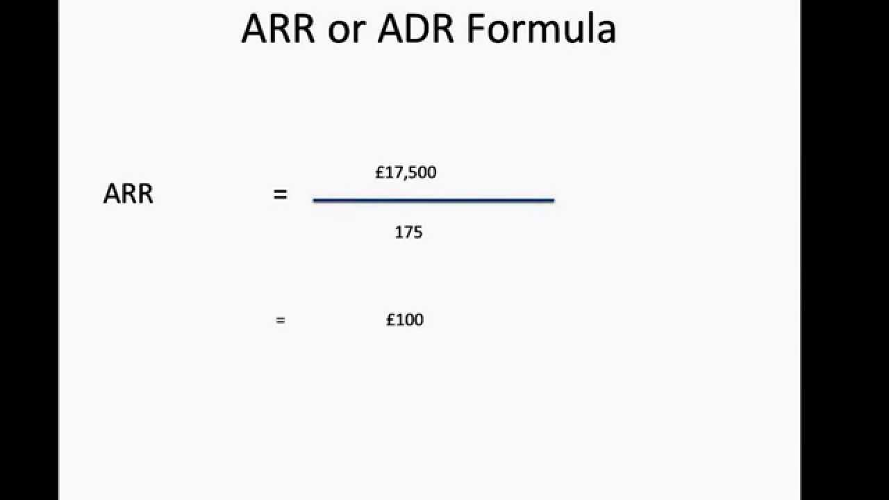 How To Calculate Hotel 39 S Average Room Rate Arr Adr Youtube