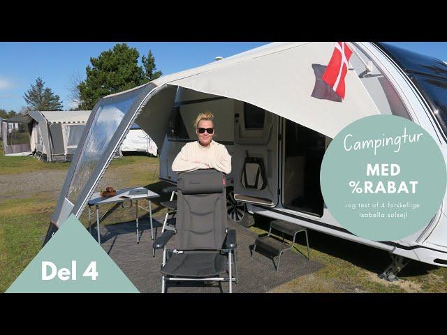 (del 4) Campingtur med rabat og test af 4 forskellige solsejl
