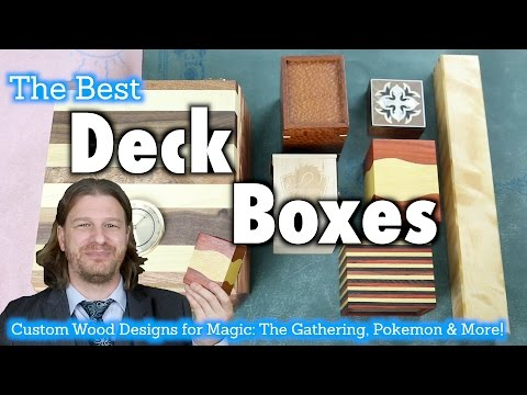MTG - Deck Boxes 16 - A Review of Custom Wooden Deck Boxes for Magic: The Gathering, Pokemon, more!