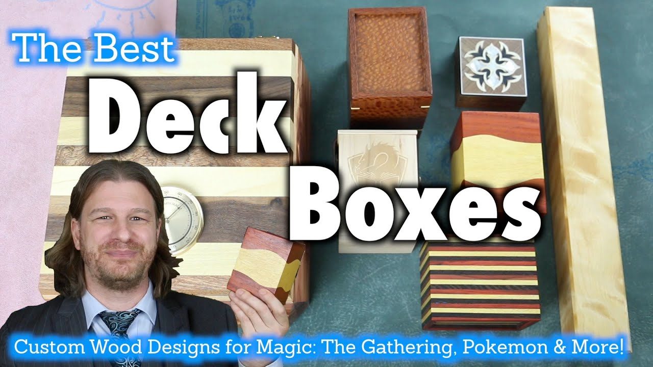 Mtg Deck Boxes 16 A Review Of Custom Wooden Deck Boxes For Magic The Gathering Pokemon More