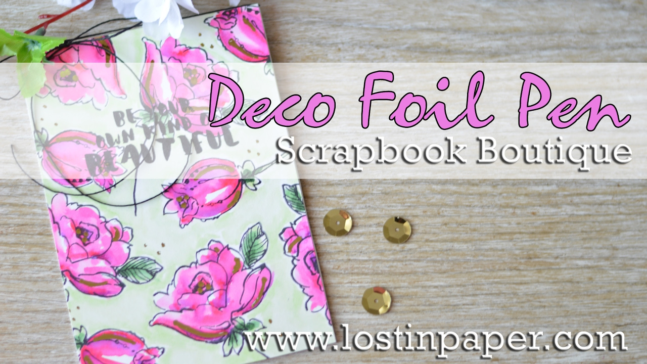 How to scrapbook flowers - How To Use The Deco Foil Pen On Altenew Flowers Scrapbook Boutique