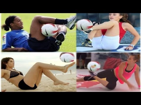 Female vs Male ● Best Football Freestyle/Skills Show - [● Ultra Mix ●] HD