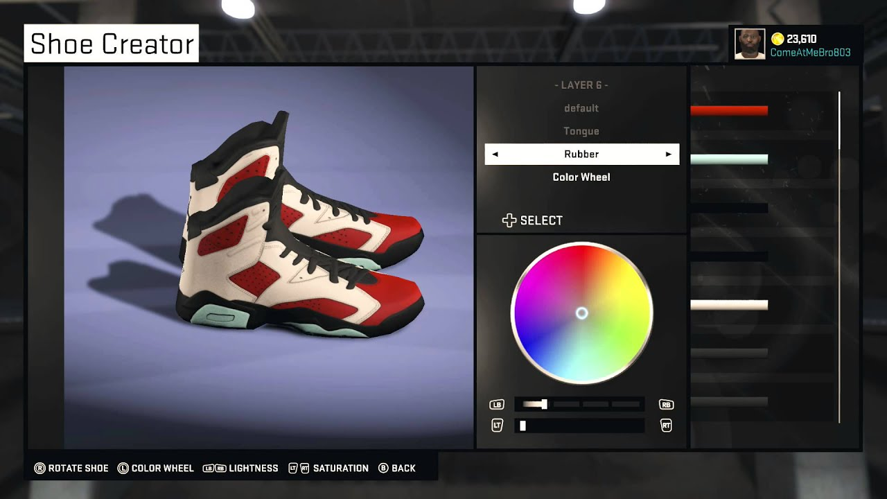 NBA 2K15 Shoe Creator | How To Create Jordan 6 Carmine | Xbox One - YouTube