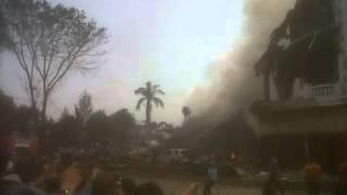 Kecelakaan Pesawat Hercules di simpang Simalingkar Medan