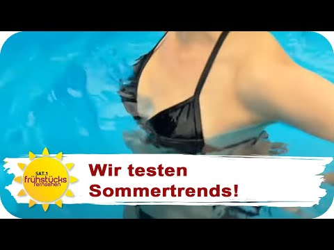 EIN WASSERLÖSLICHER BIKINI: Dieser Sommertrend macht Männer froh! | SAT.1 Frühstücksfernsehenиз YouTube · Длительность: 4 мин55 с