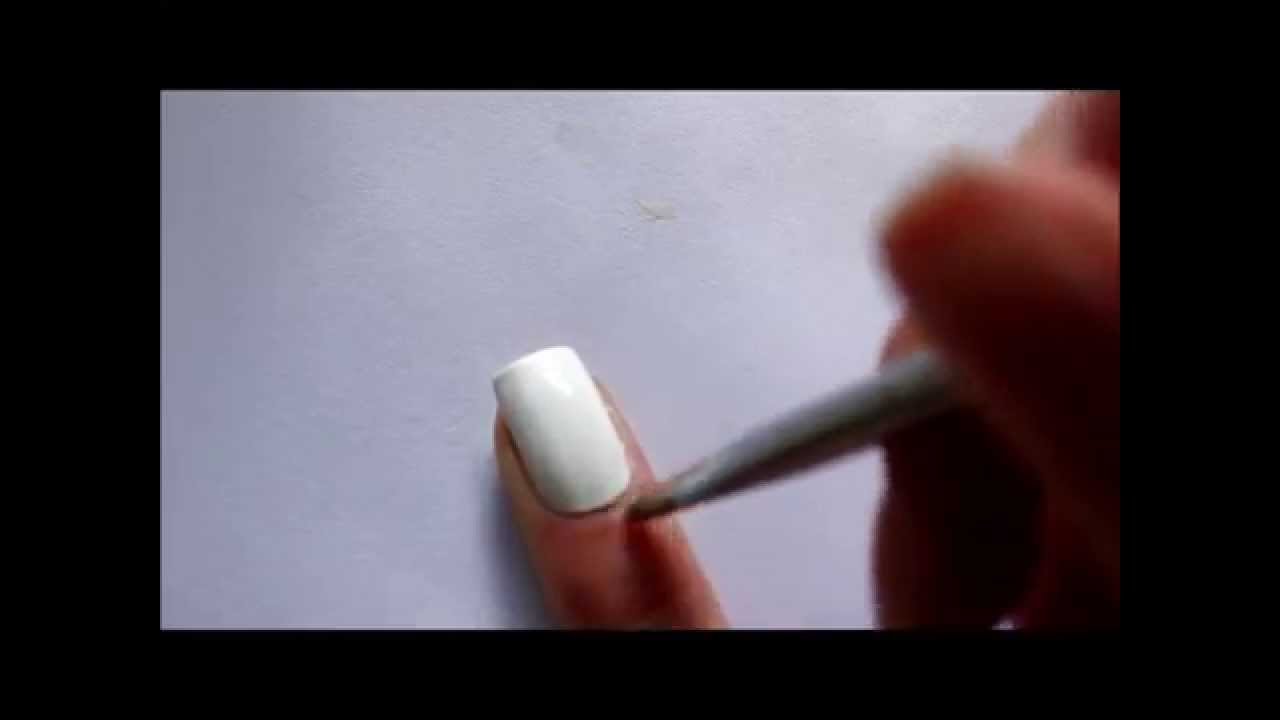 How to: Clean up around your cuticles - YouTube