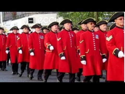 Chelsea Pensioners Parade, King's Road, Chelsea London