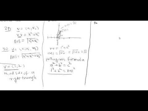 Lecture 4, Linear Algebra, Relation of vector length and