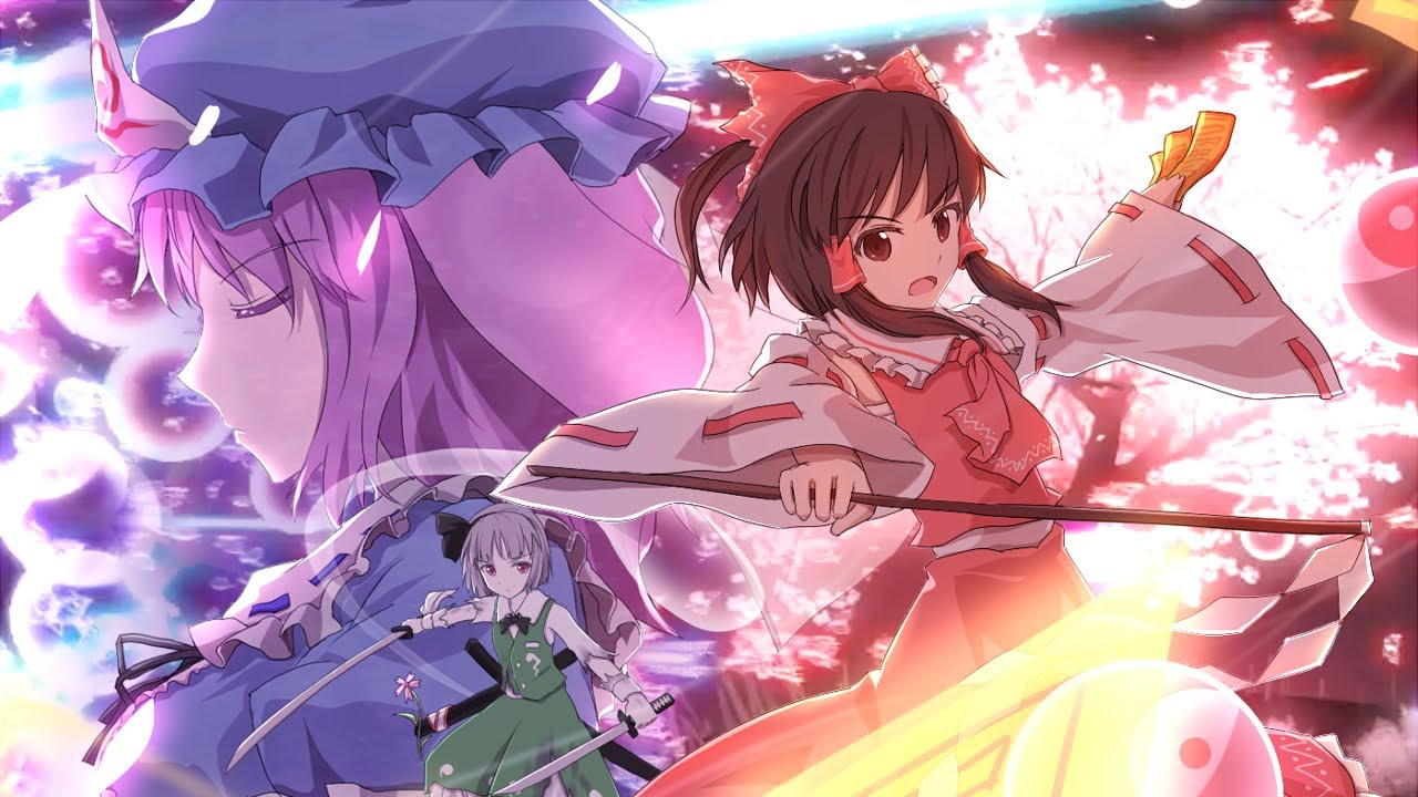 3d Cherry Blossom Wallpaper Touhou 3d Reimu Vs Yuyuko Youtube