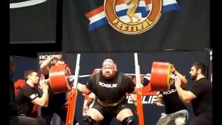 505 KG NEW WORLD RECORD SQUAT - Blaine Sumner on his 2nd attempt