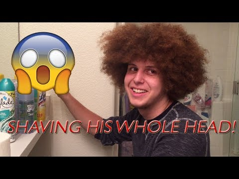 OMG! SHAVING OFF HIS AFRO!!