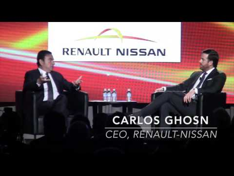 Nissan President & CEO Carlos Ghosn speaks at 2016 Automotive News World Congress