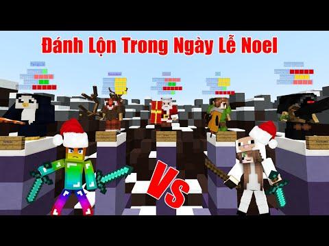 MINI GAME : CUỘC CHIẾN GIÁNG SINH - NOOB VÀ CỪU ĐÁNH LỘN TRONG LỄ NOEL ** MINI GAME VUI NHỘN NOEL