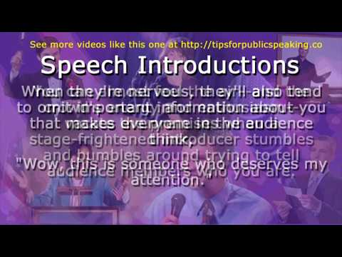 How To Introduce A Guest Speaker - Who Should Write A ...