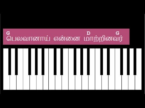 Belavanai Ennai Maatrinavar Song Keyboard Chords - G Major Chords