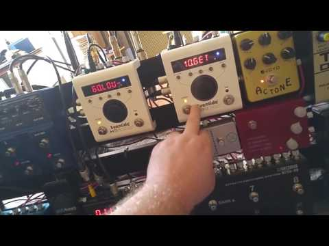 Global tap tempo, external switch, and Midi clock with Boss ES-8, Eventide H9, and Strymon
