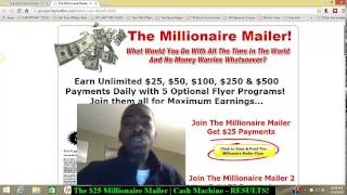 The $25 Millionaire Mailer | Results!! Making Money Mailer Flyers
