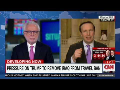 Senator Murphy Discusses Foreign Policy and Immigration with Wolf Blitzer