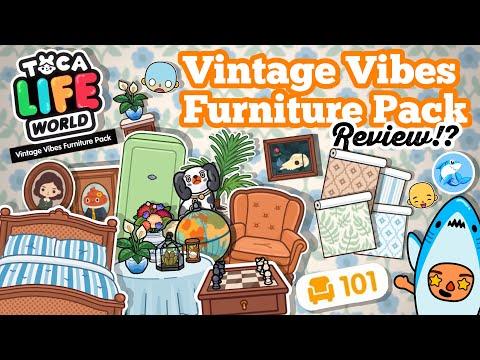 Toca Life World | Vintage Vibes Furniture Pack Review!! 🥳 (Home Designer)
