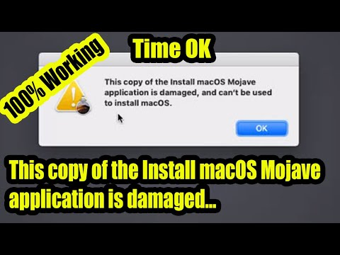 This Copy Of The Install MacOS Mojave Application Is Damaged: Even After Correcting Time