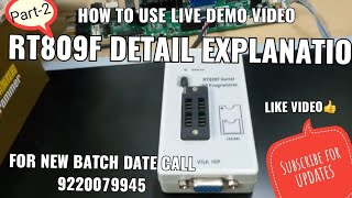 Rt809f programmer how to use & Universal Led Tv logic board Installation Part-2, Call:9220079945