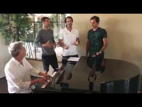 Hard to say I'm sorry song cover | Roger Federer | Dimitrov | Foster | Haas | Novak Djokovic