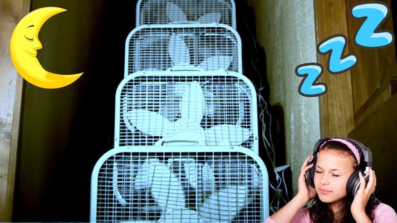 8 BOX FANS w/ BLACK SCREEN for FAN SLEEP 3 HOURS of WHITE FAN NOISE = Box  Fan Sound