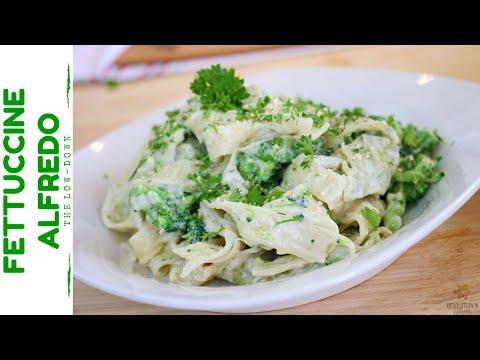 Fettuccine with Creamy Alfredo and Broccoli