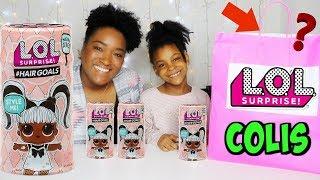4 poupées LOL surprise #HAIRGOALS avec vrais cheveux et Colis L.O.L surprise!