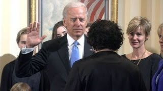 Biden takes oath of office at the naval observatory.