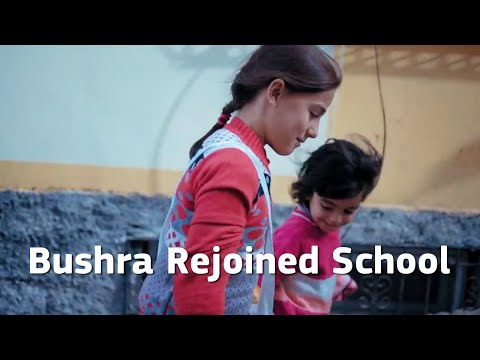 Bushra rejoined school thanks to joint Turkey and EU support