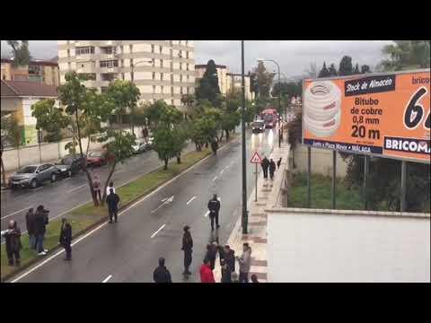 Málaga-Sevilla: Llegada Del Autobús Del Sevilla A La Rosaleda
