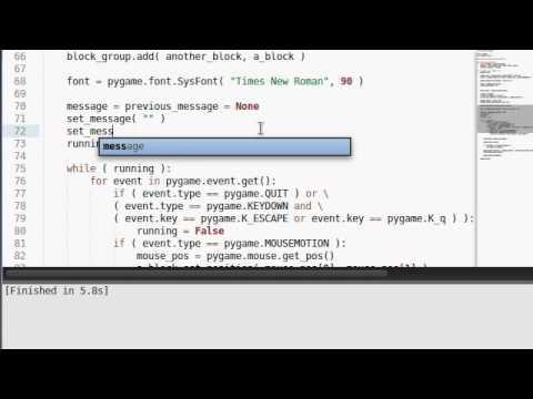 Python [pygame] 11 Rectangular Collision Detection