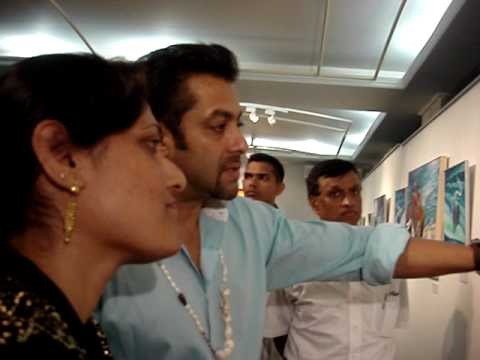 Salman Khan in my Painting Exhibition!!!