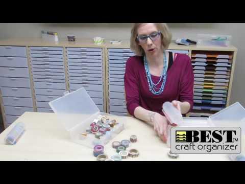 Washi Tape Storage from Best Craft Organizer