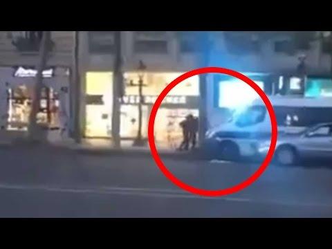 Parigi, le immagini dell'attacco sugli Champs Elysees